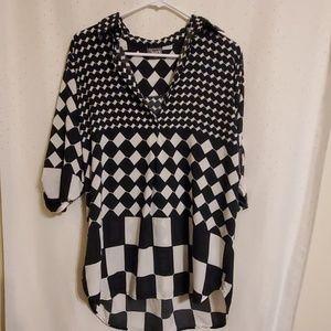 Vintage   Black & White Tunic